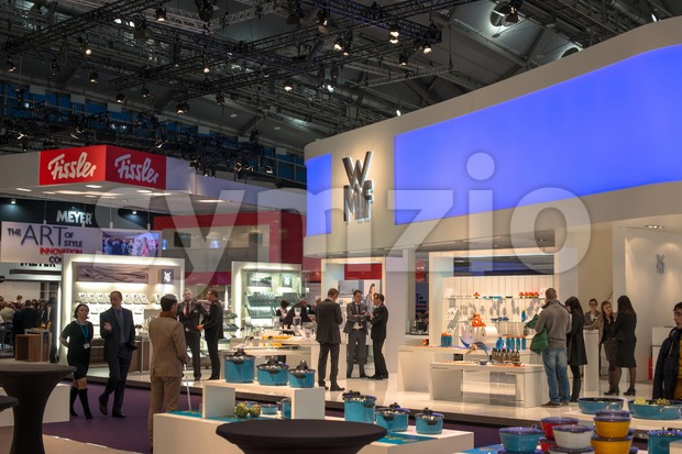 FRANKFURT, GERMANY – FEBRUARY 16, 2013: Booths on the Ambiente trade fair on February 16, 2013 in Frankfurt, Germany. Ambiente ...