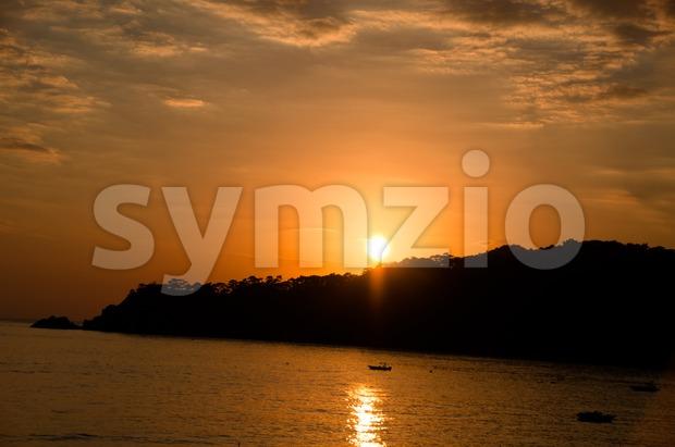 Sundown in Turkey Stock Photo