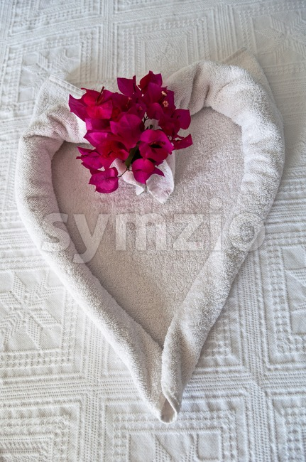 Bed decoration Stock Photo