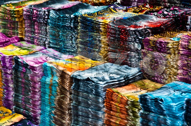 Large collection of cloth Stock Photo