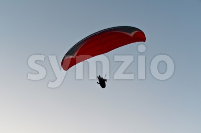 Paraglider in Turkey Stock Photo