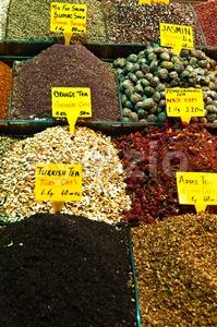 Tea Market Stock Photo
