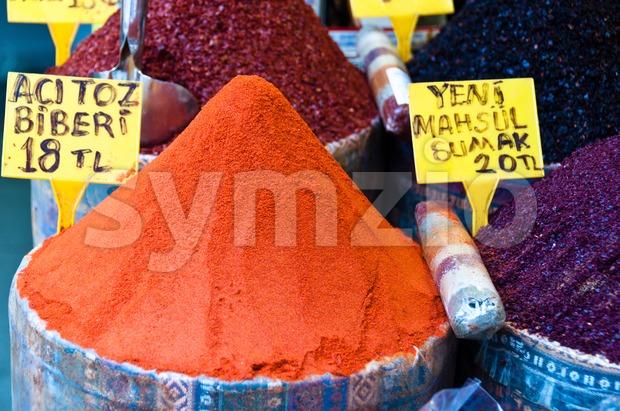 Red Ground Paprika Stock Photo