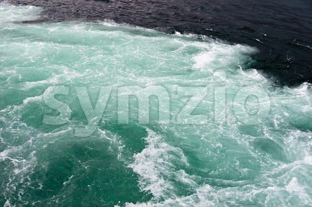 Boat waves Stock Photo