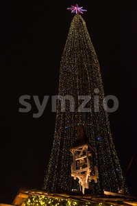 traditional christmas decoration in Hamburg, Germany Stock Photo