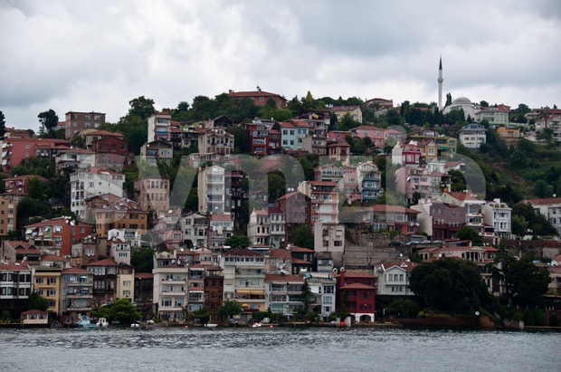 Istanbul - Bosphorus river bank Stock Photo