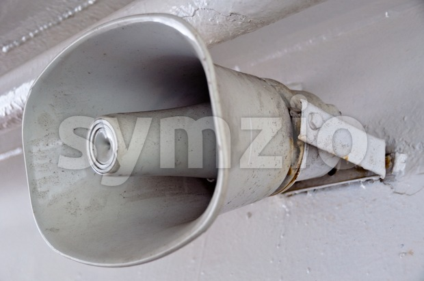 Ship Loudspeaker Stock Photo