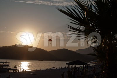 Sundown in Turkey Stock Photo