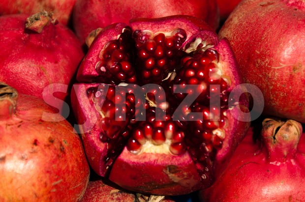 Pomegranate fruits Stock Photo