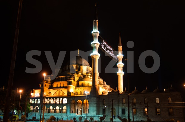 Istanbul - Blue Mosque at night Stock Photo