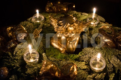 Beautiful advent wreath Stock Photo