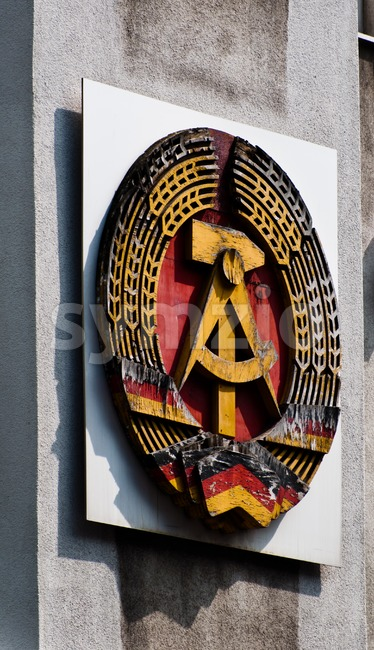 Berlin - Emblem of former German Democratic Republic Stock Photo