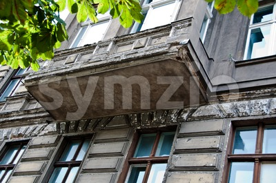 Berlin - facade in the eastern part Stock Photo