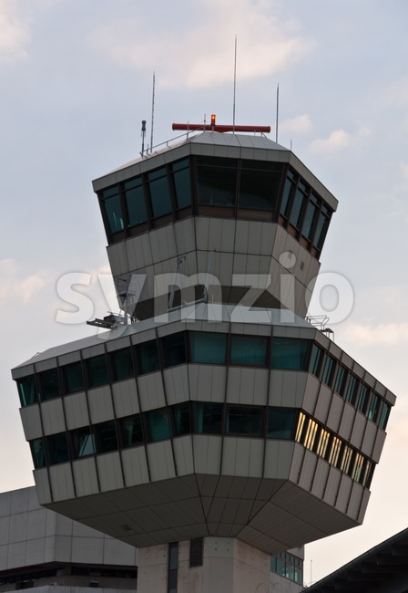 Closeup of the Tower at Berlin Tegel Airport, Germany