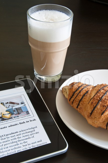 Modern Morning News Stock Photo