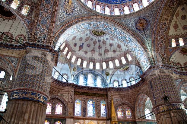 Yeni Camii mosque, Istanbul, Turkey Stock Photo