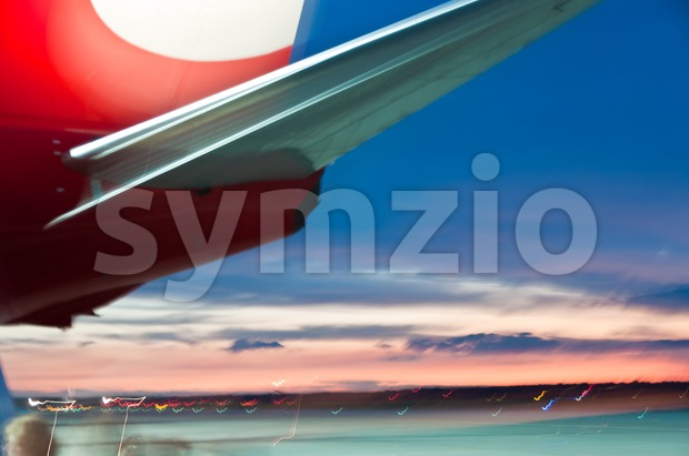 Abstract plane Stock Photo