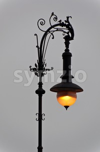Berln - Old Streetlight Stock Photo