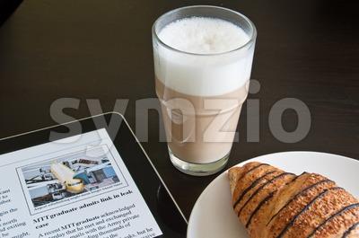 Modern Morning News Stock Photo