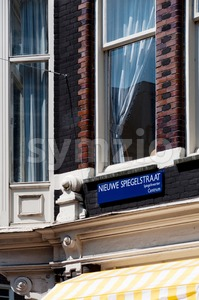 Spiegelstraat steet, Amsterdam, Netherlands Stock Photo