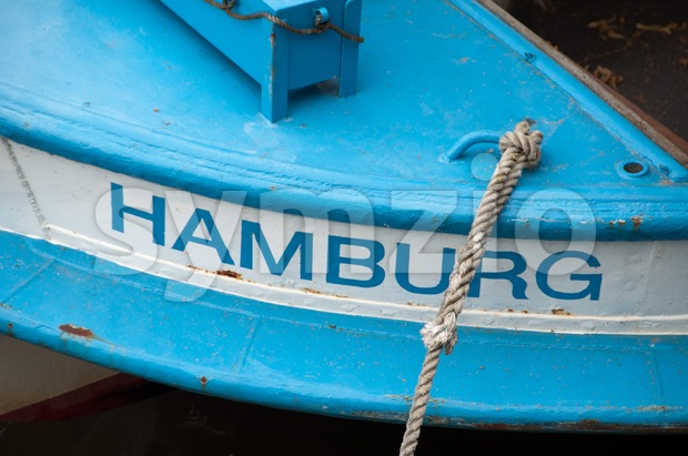 Hamburg boat Stock Photo