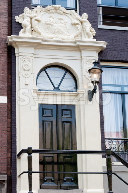 Entrance in Amsterdam Stock Photo