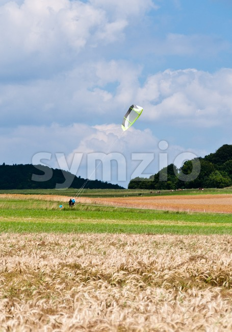 Kite flying Stock Photo