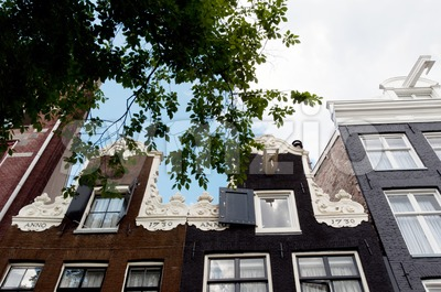 Facades of Amsterdam Stock Photo