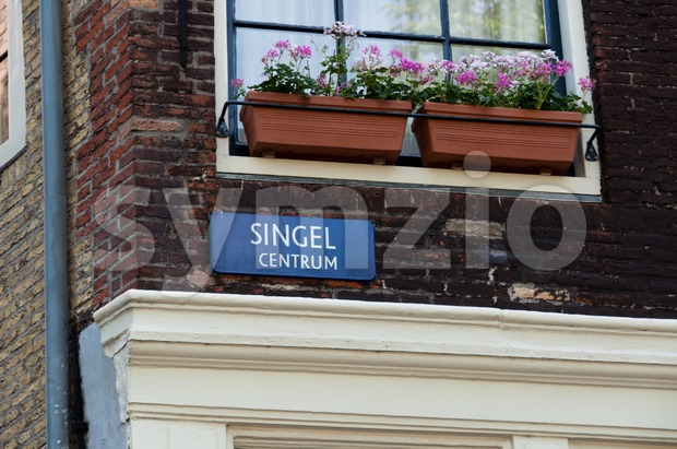 Singel steet, Amsterdam, Netherlands Stock Photo