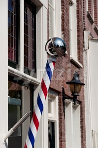 Barbershop Pole Stock Photo