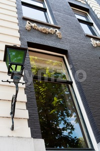 Great old lamp in Amsterdam Stock Photo