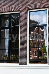 Windows in Amsterdam Stock Photo