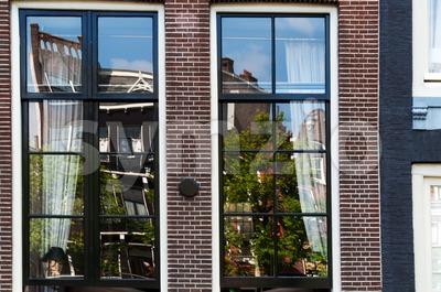 Windows in Amsterdam Stock Photo