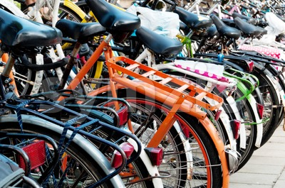 Bikes in Amsterdam Stock Photo