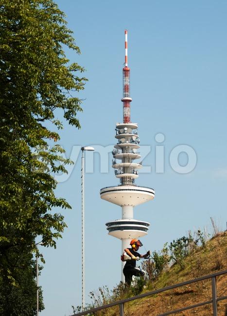 Hamburg TV tower Stock Photo