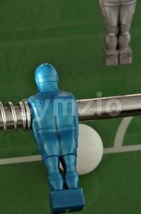Foosball - table soccer detail Stock Photo