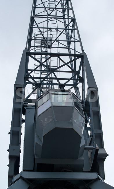 Old port crane Stock Photo