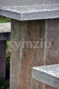 Stone picnic table 2 Stock Photo