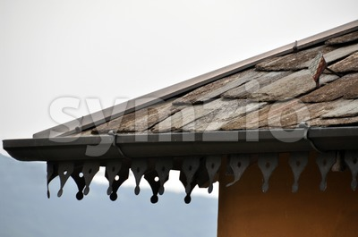 Old stone roof Stock Photo