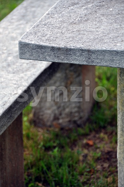 Stone picnic table 1 Stock Photo
