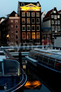 Amsterdam in the evening Stock Photo