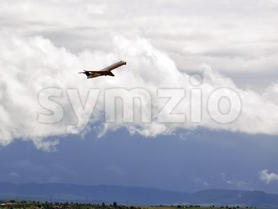 Airplane taking off 2 Stock Photo