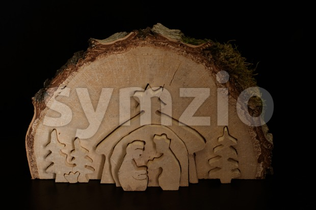 christmas crib. nativity scene Stock Photo