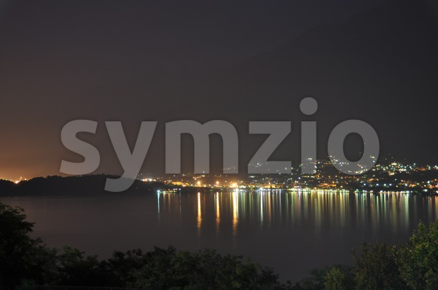 Lake Como at night Stock Photo
