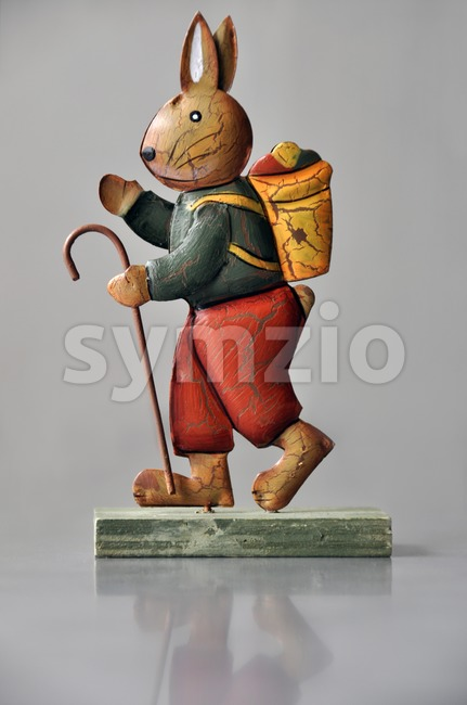 Easter decoration - marching bunny Stock Photo