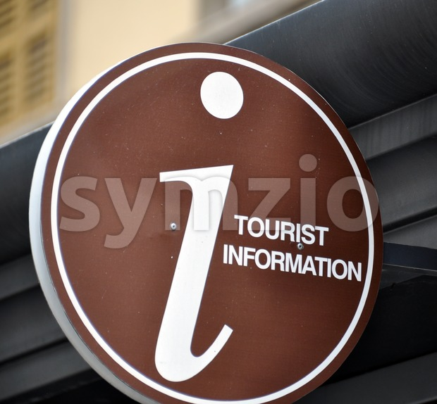 Tourist Information Stock Photo