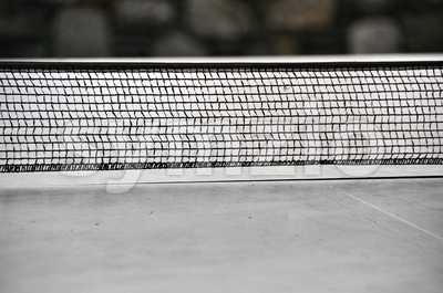 Ping pong - table tennis net Stock Photo
