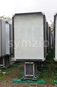Collection of advertising boards Stock Photo