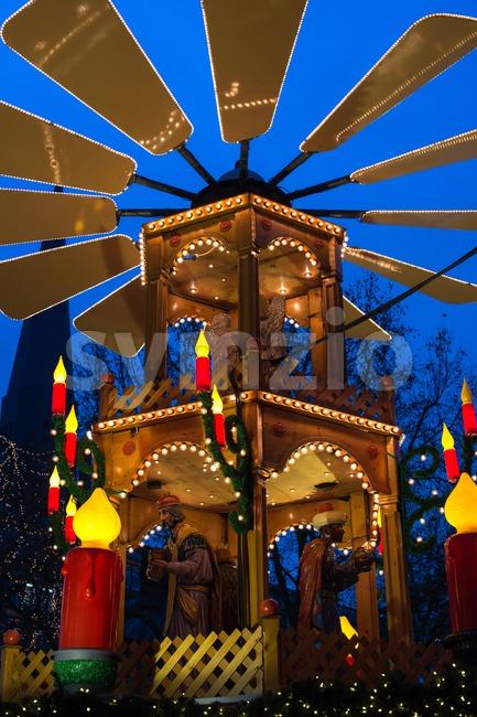 Christmas pyramid Stock Photo
