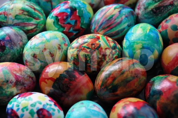Easter egg background Stock Photo